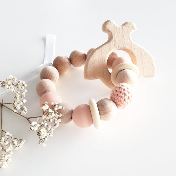 Bracelet coccinelle de dentition rose