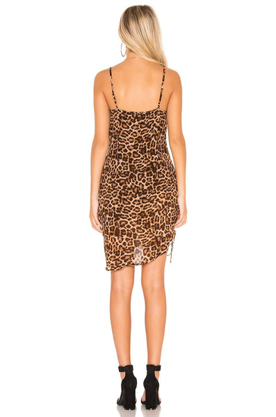 Leopard midi- mini dress