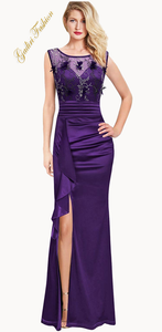 Formal dress - satin & embroidery in prom, party, wedding guest dresses it is maxi dress