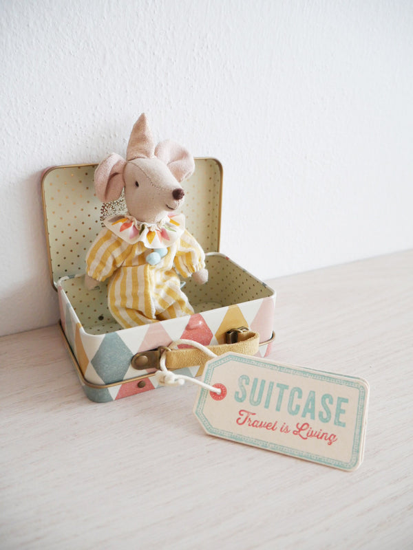 Clown Mouse In A Suitcase