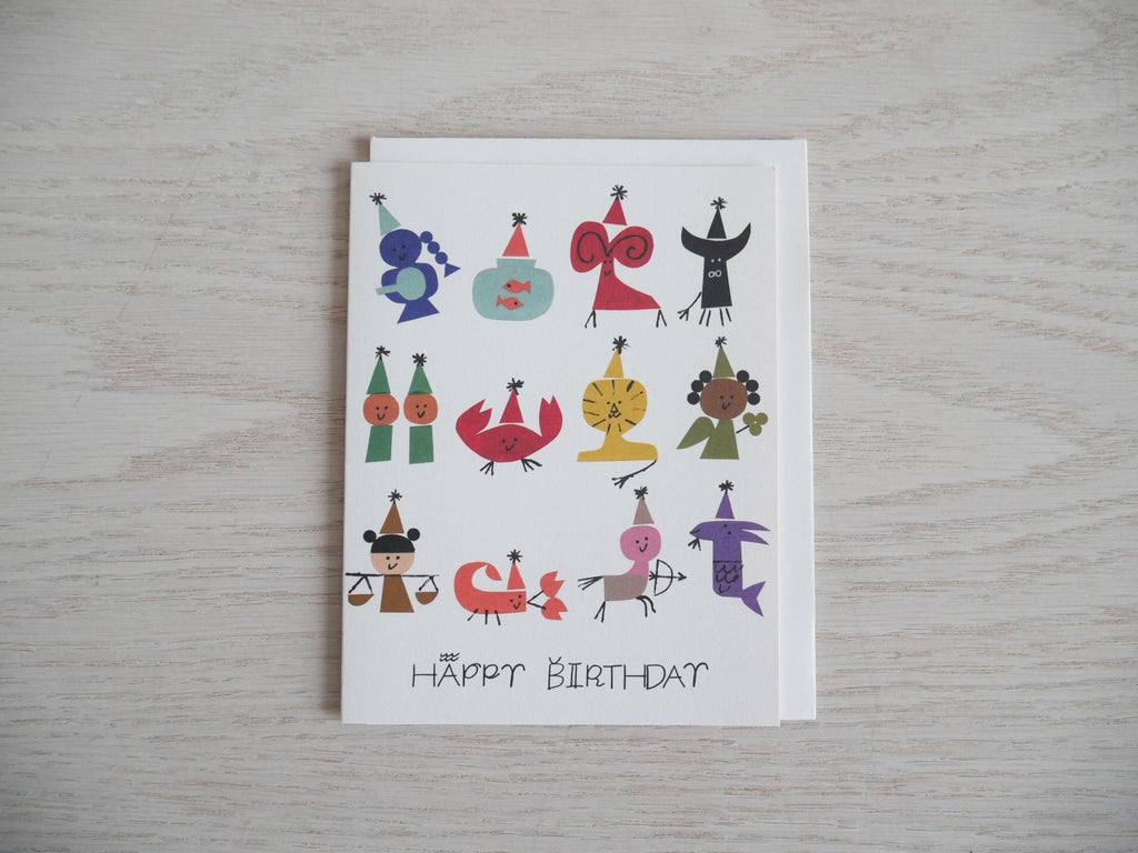 Astrology Party Birthday Card