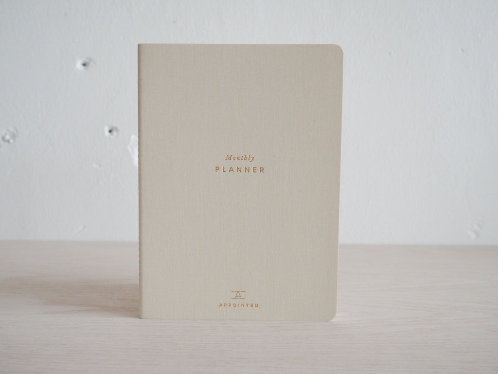Monthly Planner - Blank Undated - Natural Linen