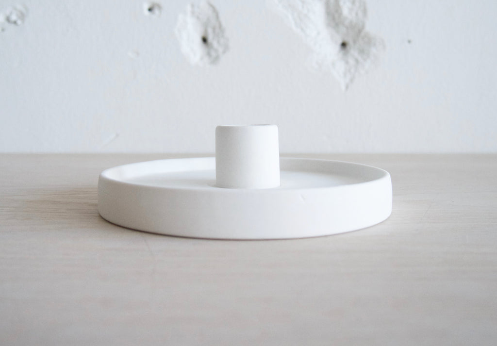 Candlestick, Porcelain White