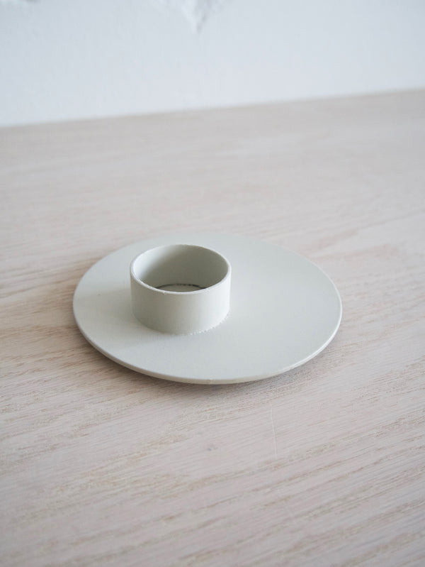 Tealight Holder, Metal, Grey