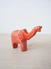 Small Orange Polka Dot Elephant with Trunk Up