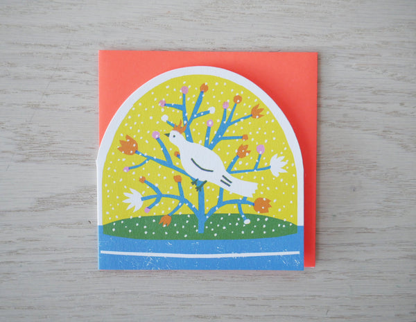 Bird Snowglobe Card