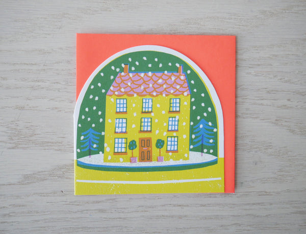 House Snowglobe Card