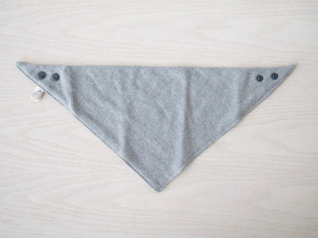 Shetland Gray Woven Bandanna Bib, Gender Neutral