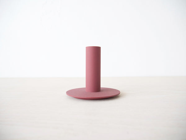 Metal Candlestick - Bordeaux