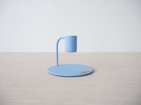 Metal Candlestick - Blue