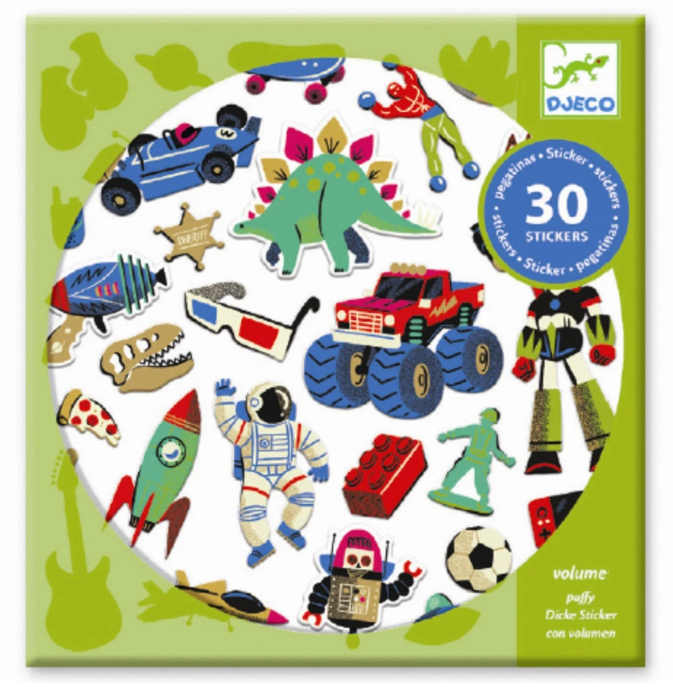 Petit Gift Stickers - Retro Toys