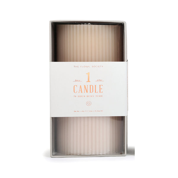Fancy Pillar Candle, Parchment
