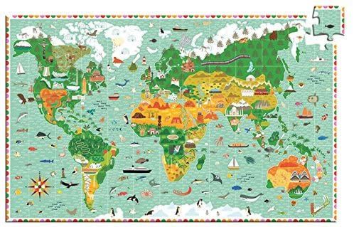 Observation Puzzle: World Animals Puzzle and Booklet