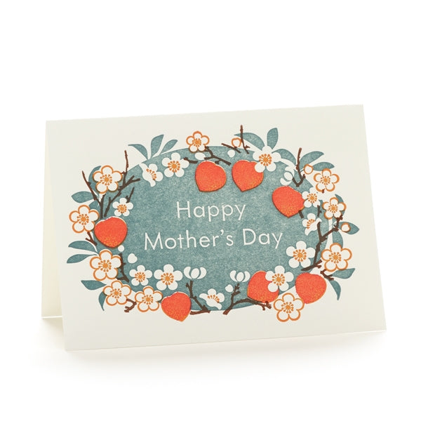 Peach Blossoms Mothers Day Card