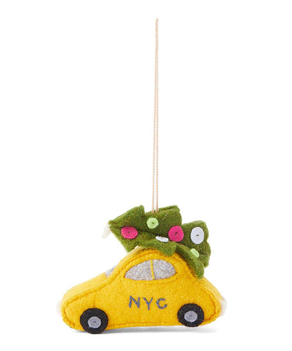 Taxi & Tree Ornament