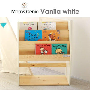 Moms Genie (Front-facing) Bookcase – Vanilla White