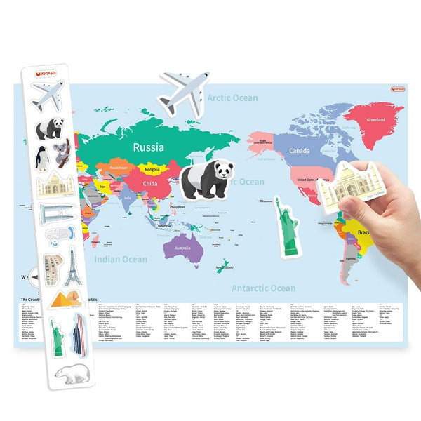 Magnetic World Map (English)