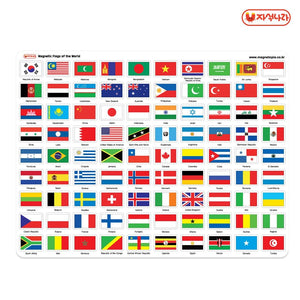 Magnetic World Flags (English)