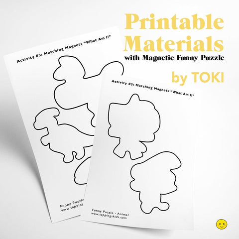 Printable Materials with Magnetic Funny Puzzle