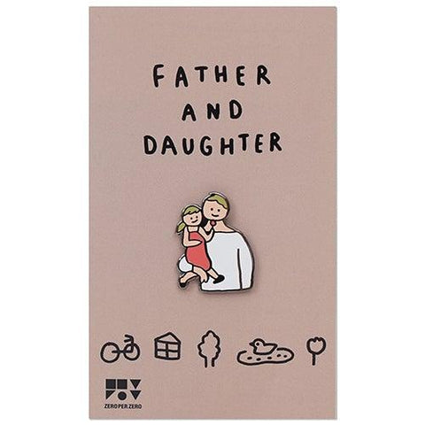 Pin Badge – Father and Daughter
