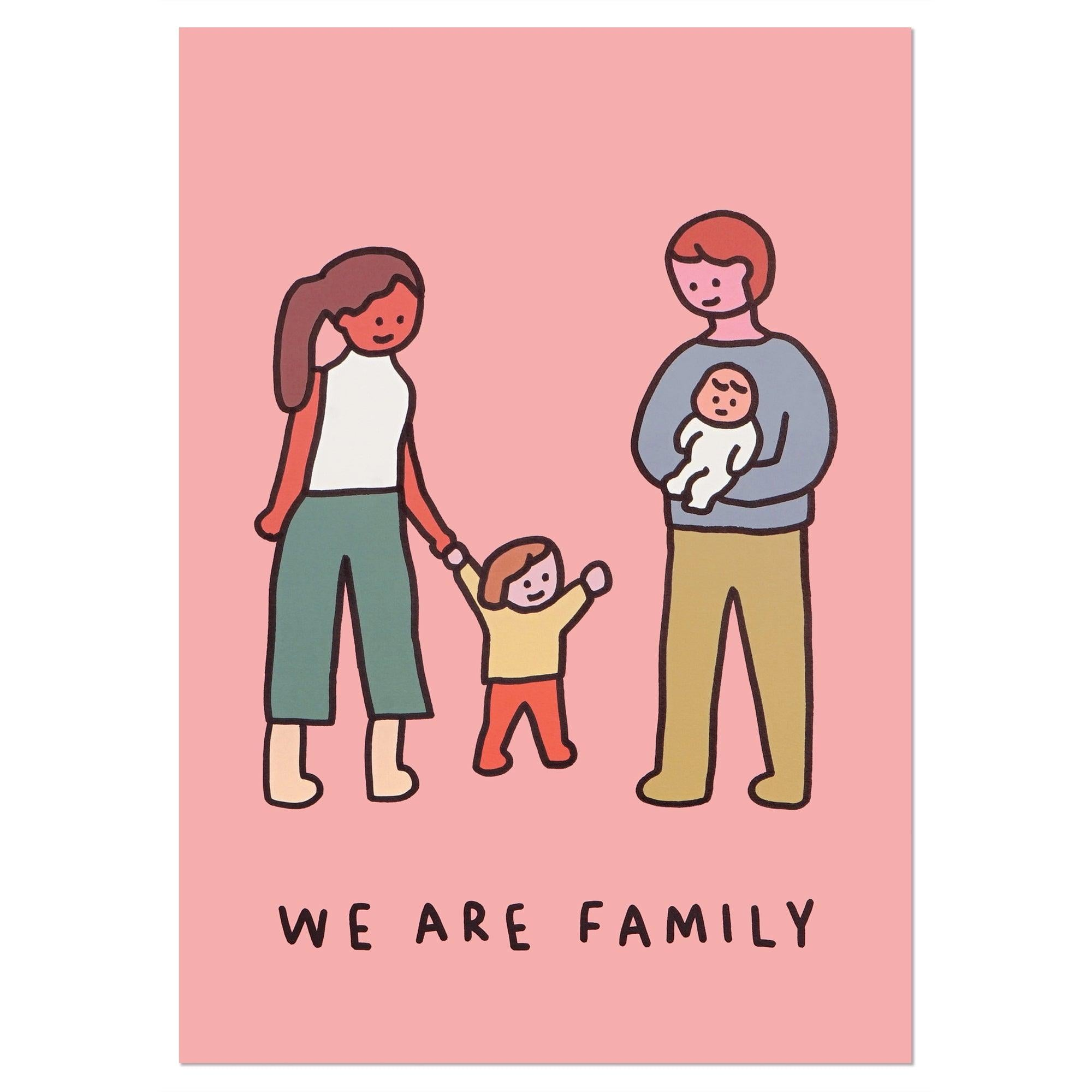 A3 Poster - Family of Four 1