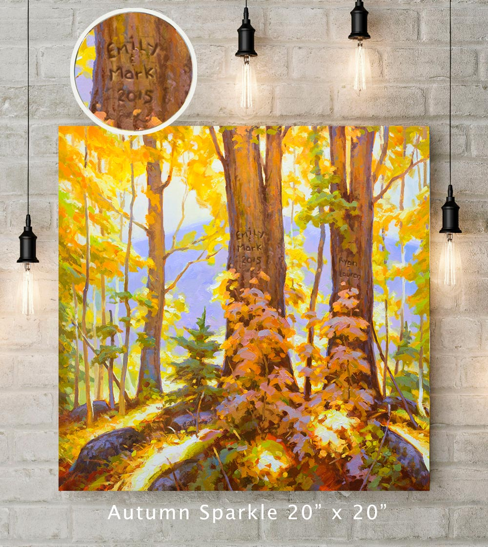 Autumn Sparkle Custom Canvas Wrap Print