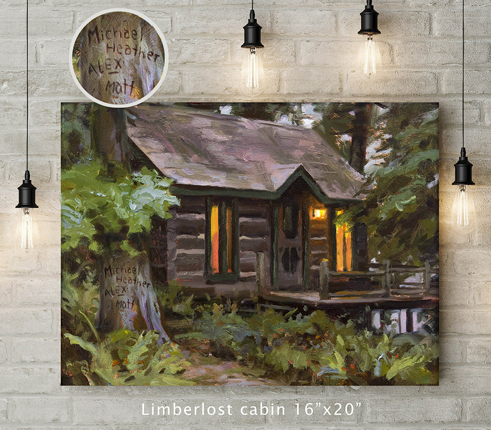 Limberlost Cabin Custom Canvas Wrap Print