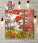 October Mist Custom Canvas Wrap Print