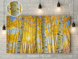 Skyward Custom Canvas Wrap Print