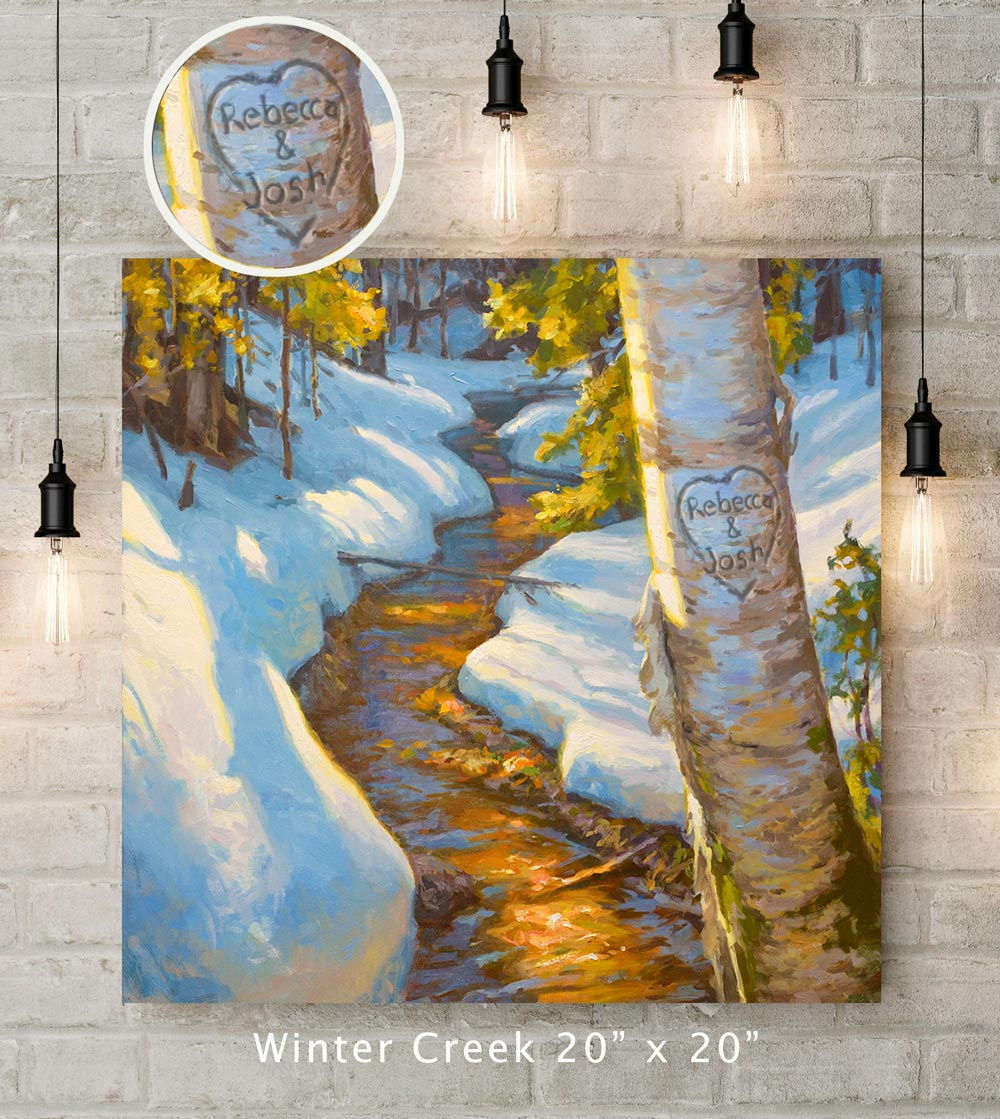 Winter Creek Custom Canvas Wrap Print