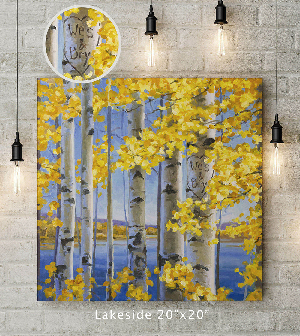Lakeside Custom Canvas Wrap Print