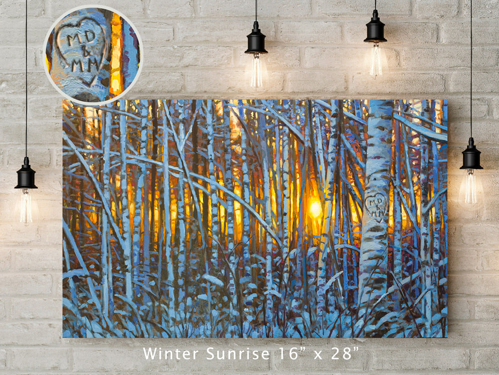 Winter Sunrise Custom Canvas Wrap Print