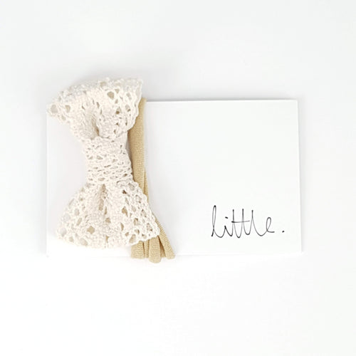Little Lace Bow Headband
