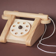 Load image into Gallery viewer, Retro Wooden Telephone