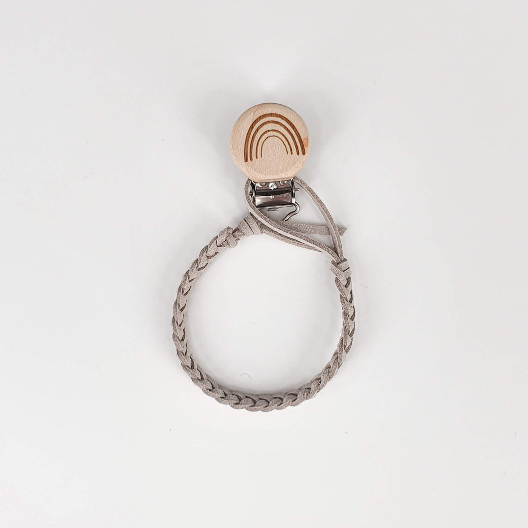 Faux Leather Dummy Clip - Ash Grey