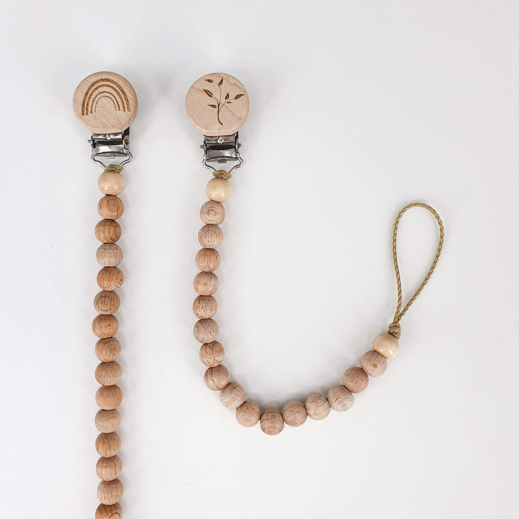 Petite Wooden Bead Dummy Chain - Natural
