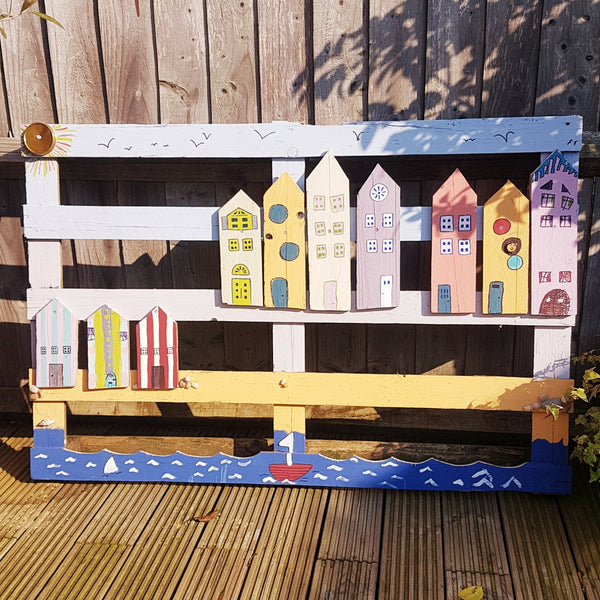 Upcycled Seaside Scene