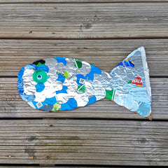 fish design for kids, craft activity for kids, recycling activity for kids