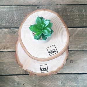 Natural wood slices - KICA Living