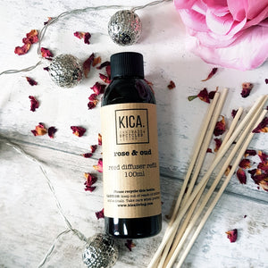 Rose and Oud Reed Diffuser Refill (100ml) - KICA Living