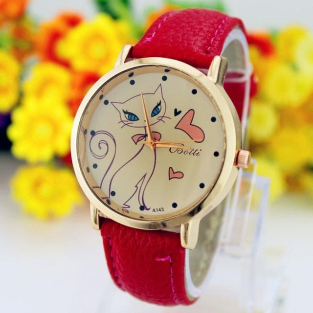 Luxury Crystal Lovely and elegant Cat Watch