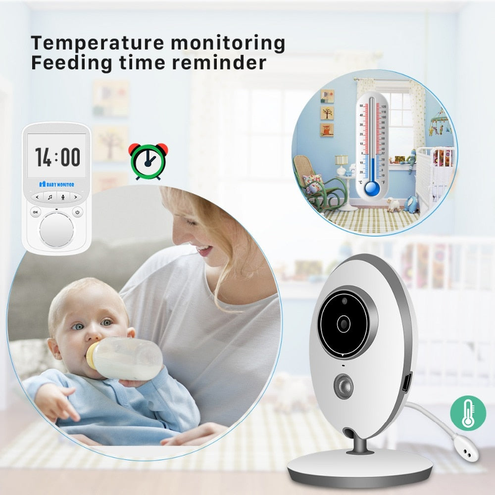 Wireless Audio Video Baby Monitor 24h Portable Baby Camera Baby