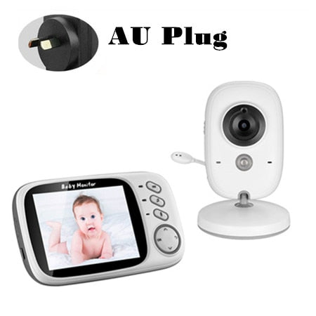 Wireless Video Color Baby Monitor 3.2 Inch High Resolution (Night Vision Temperature Monitoring)