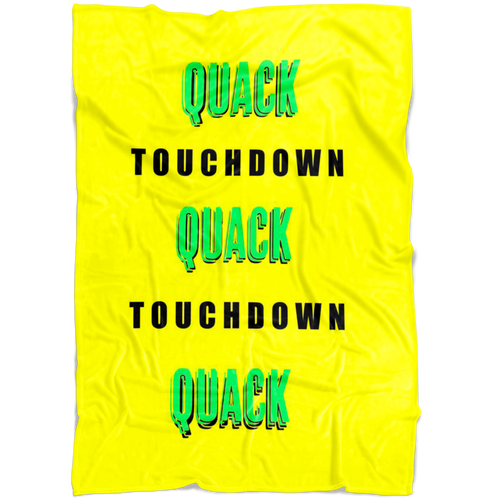 QUACK TOUCHDOWN Fleece Blanket