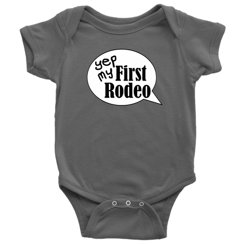 First Rodeo Onesie Baby Bodysuit in NB, 6M, 12M, 18M, 24M