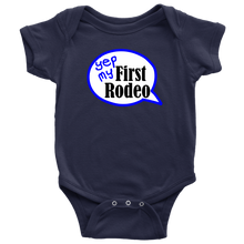 Load image into Gallery viewer, First Rodeo Onesie Baby Bodysuit in NB, 6M, 12M, 18M, 24M