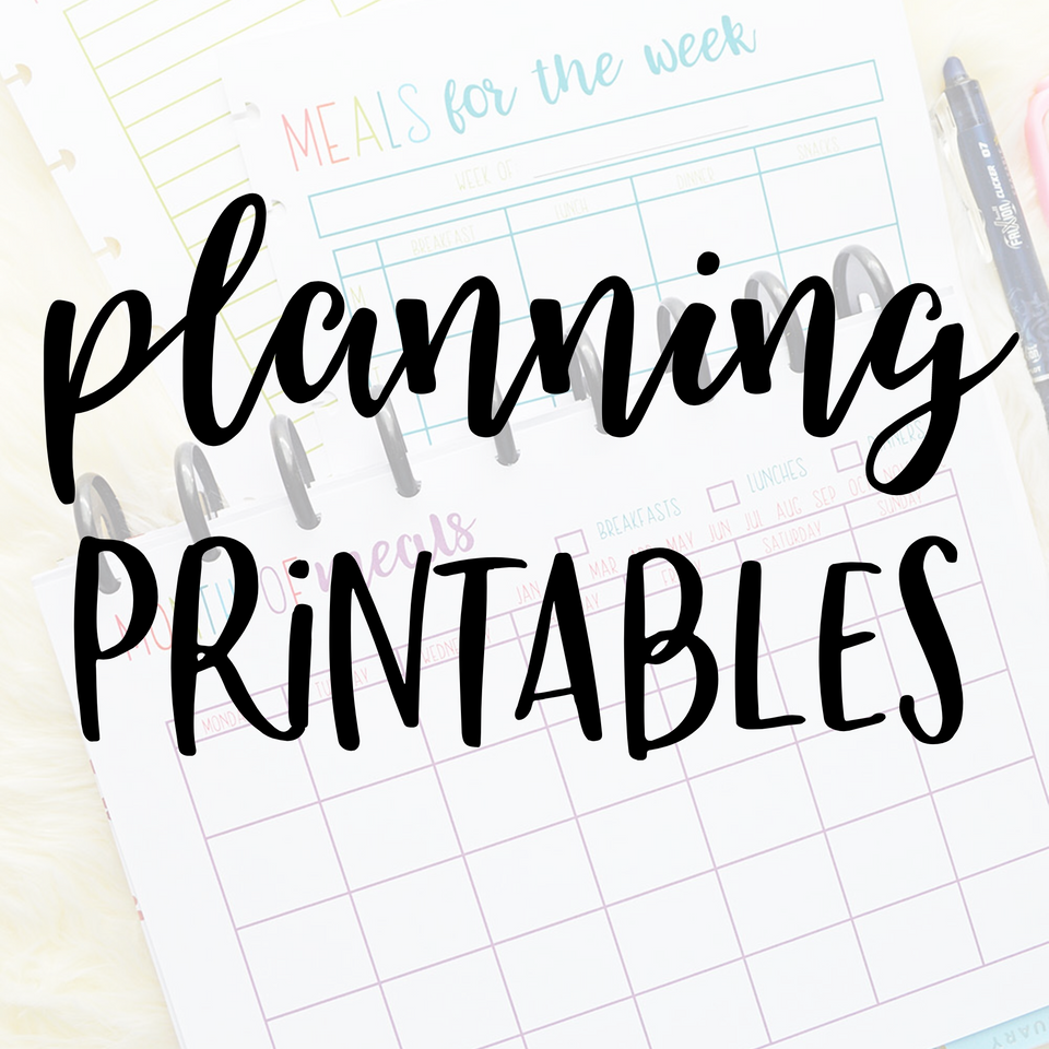 Planning Printables