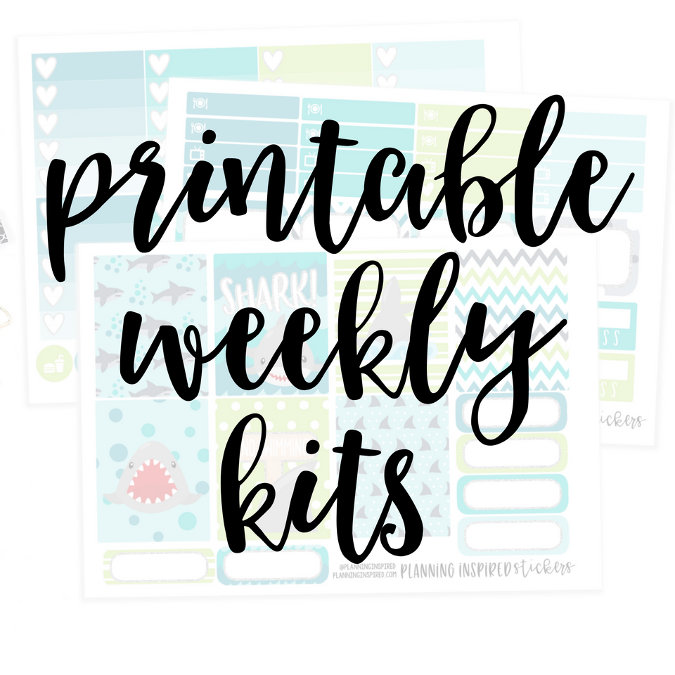 Printable Weekly Sticker Kits