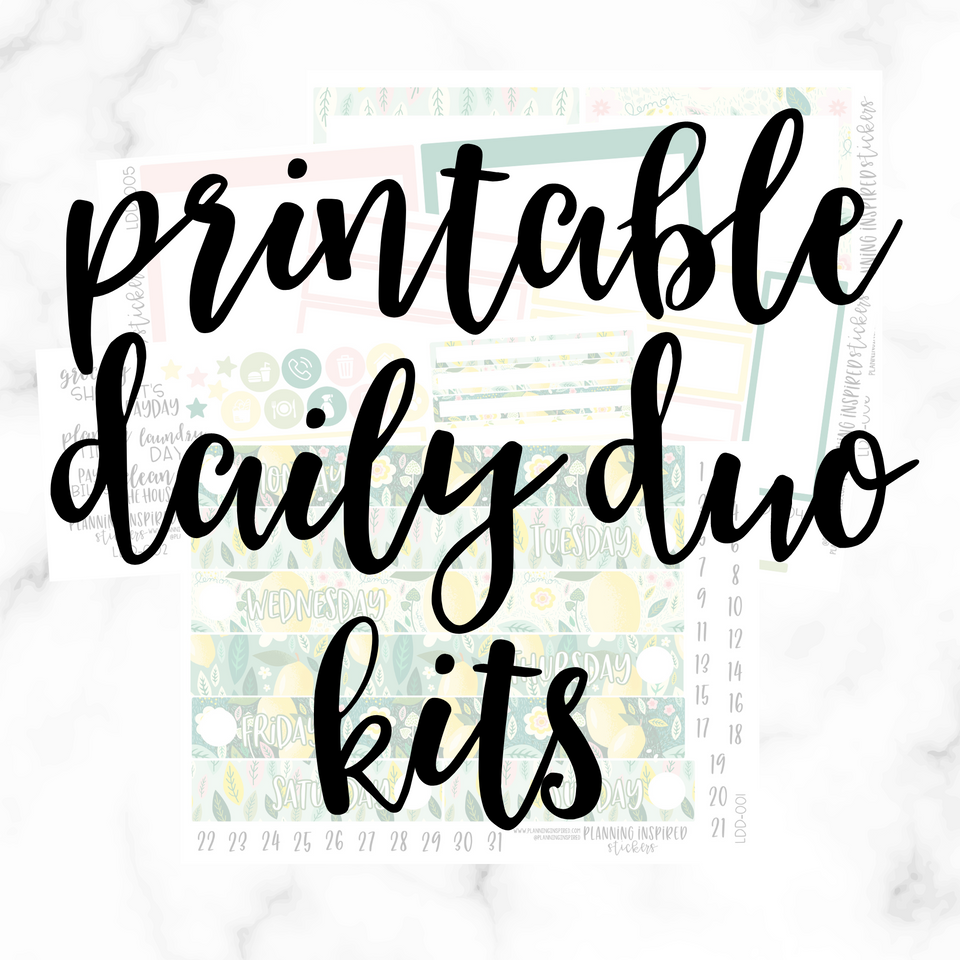 Daily Duo Printable Kits
