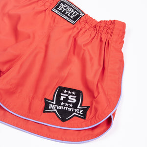 InFightStyle Training Line - Coral - InFightStyle Muay Thai Gear, Training Line Shorts